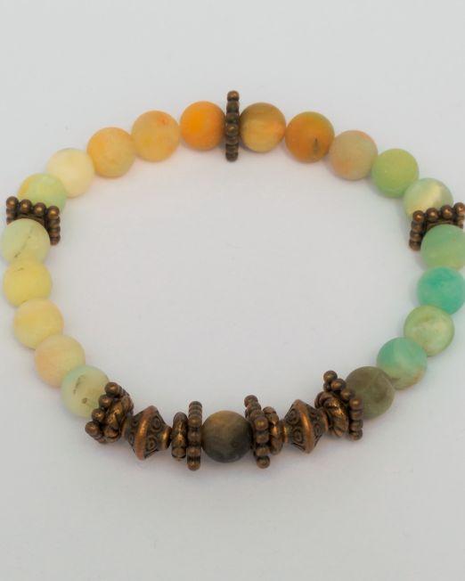 vielfarbiger Amazonit Kupferarmband