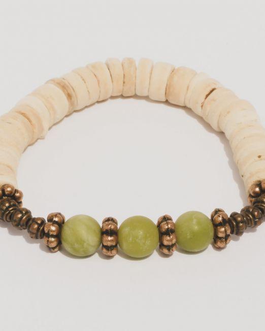 Jade Kokos Kupferarmband